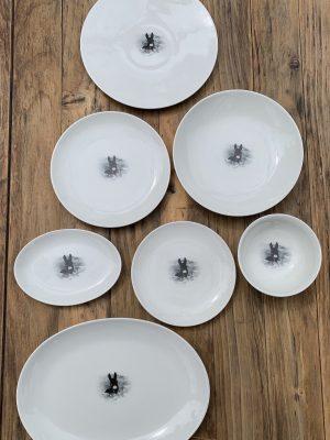 Plato de porcelana La Maravilla 24 cm