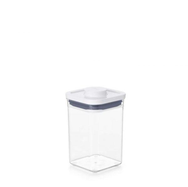 Bote Pop cuadrado estrecho 1 litro de OXO