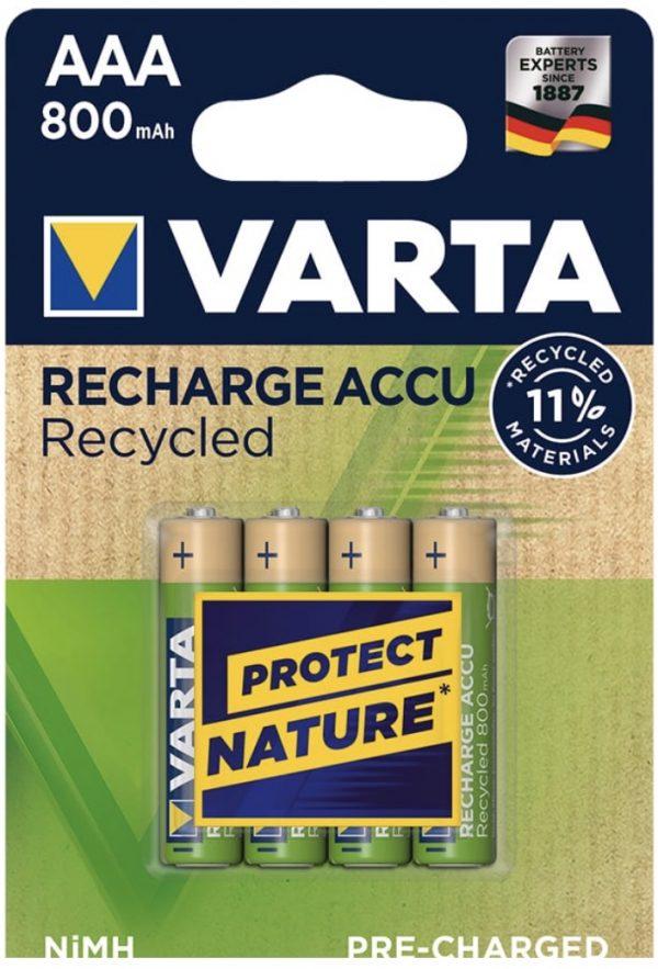 Varta pila recargable AAA x 4