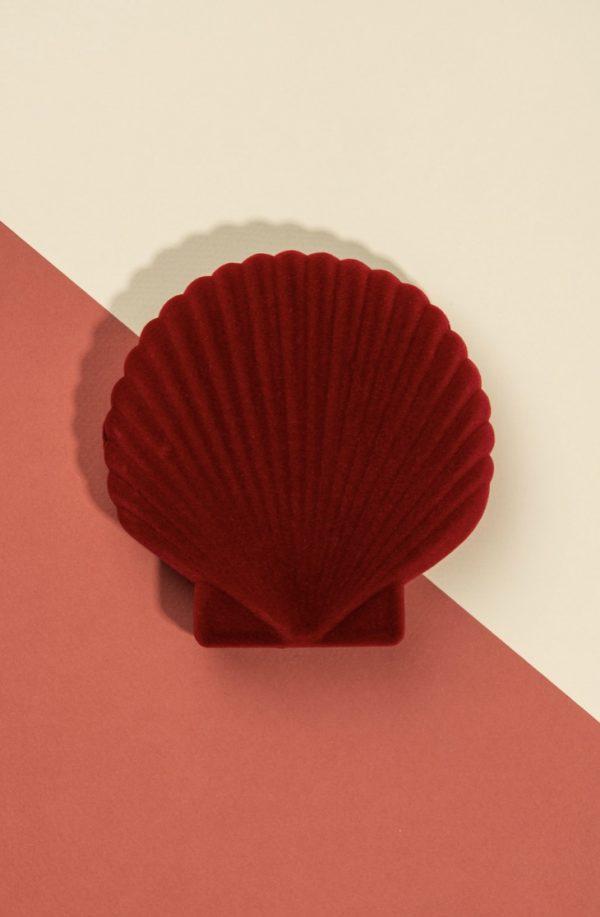 Joyero concha (rojo)