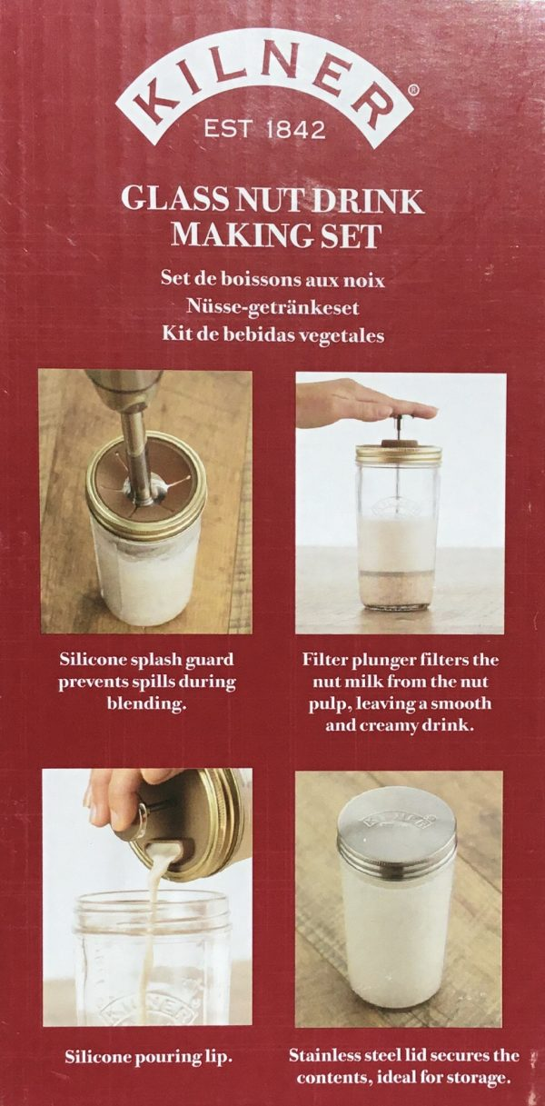 Set para bebidas de frutos secos Kilner (0,5 L)
