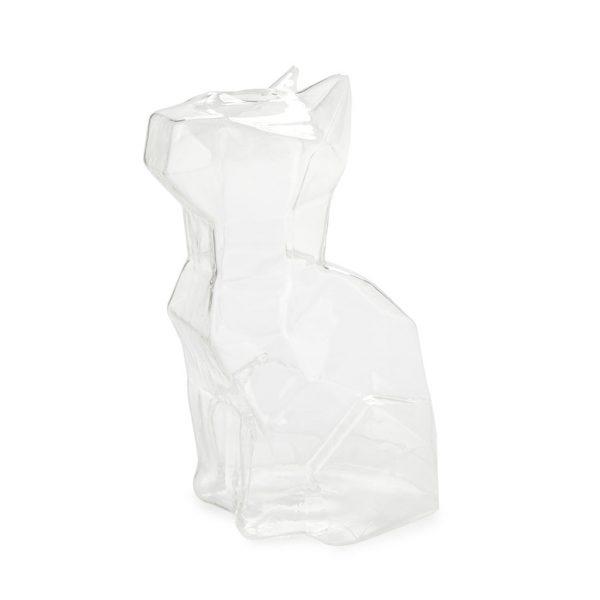 Florero Sphinx gato 23 cm (transparente)