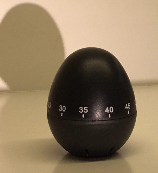 Temporizador huevo negro