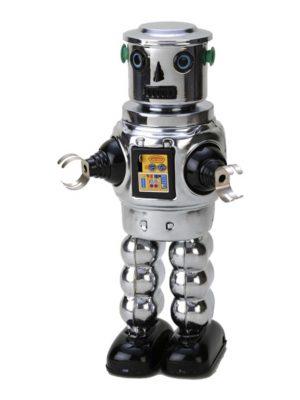 Robot cromado 25 cm