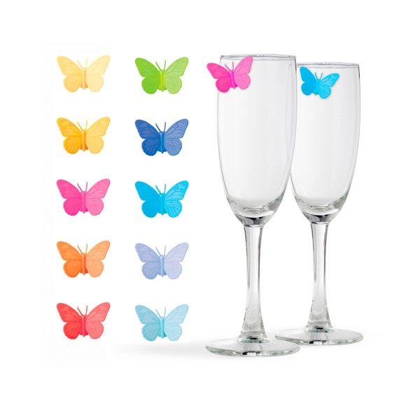 Marcacopas mariposas