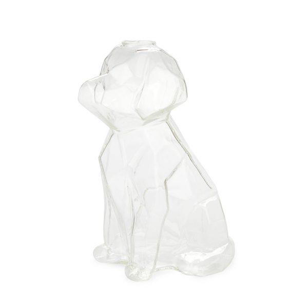 Florero Sphinx perro 23 cm (transparente)