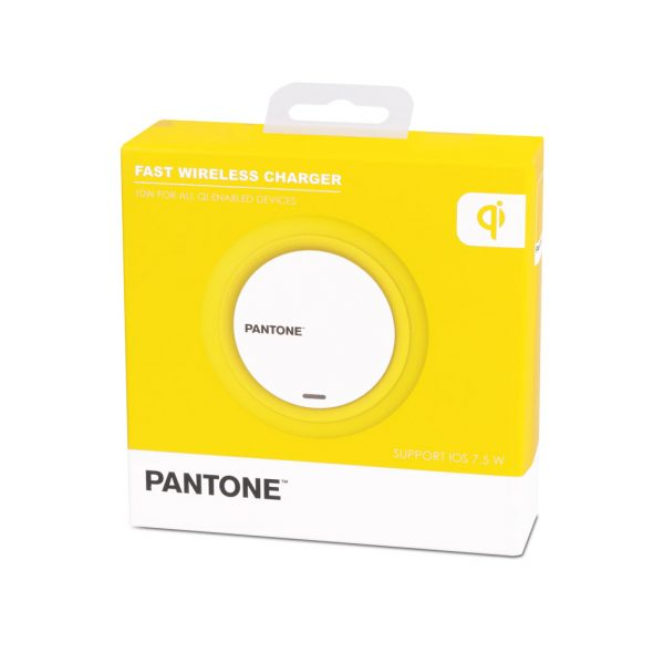 Cargador inalámbrico Pantone (amarillo)