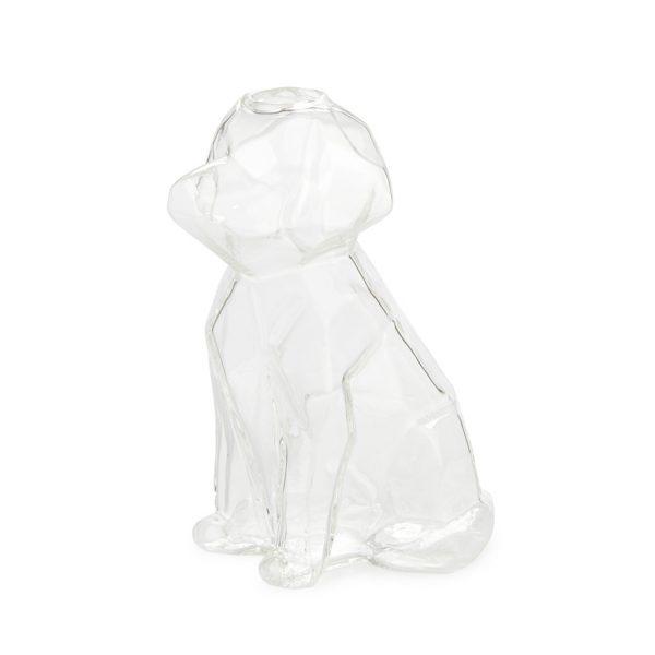 Florero Sphinx perro 15 cm (transparente)
