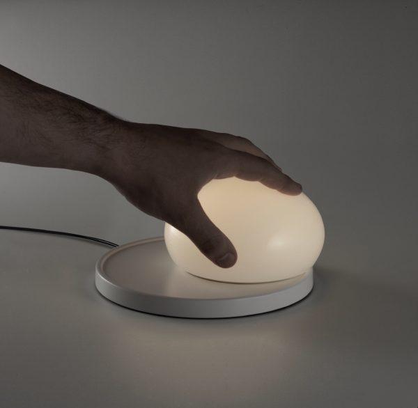 Lámpara Bolita (base blanca)