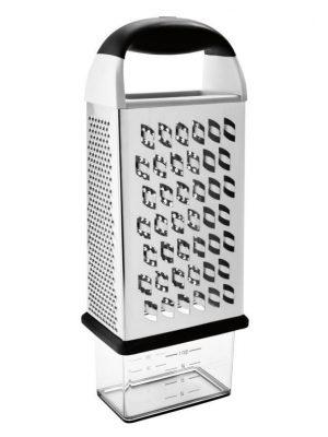 Rallador de 4 caras con recipiente