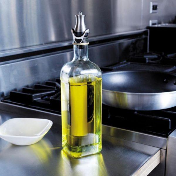 Tapón dosificador para botellas de aceite, vinagre y licor
