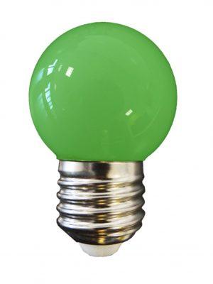 Bombilla esférica LED E27 (verde)