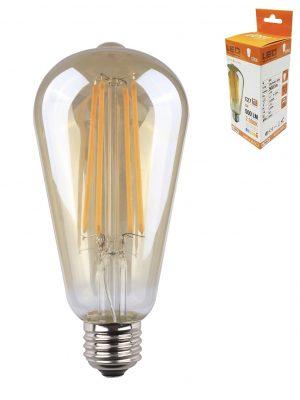 Bombilla ovoide con filamento LED E27