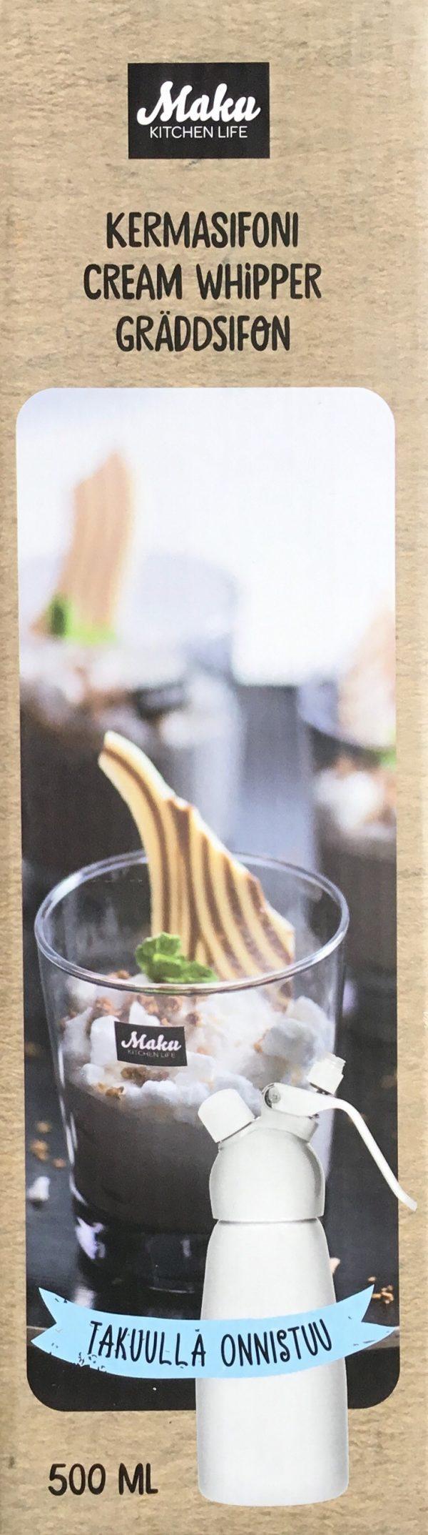 Sifón Maku para nata y espumas