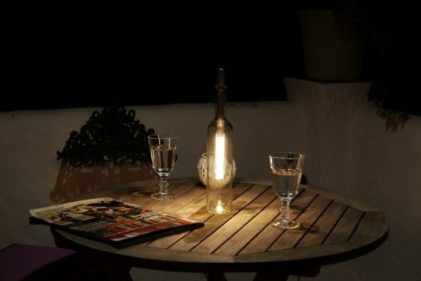 Bottlelight regulable 15-40 lm (blanco cálido)