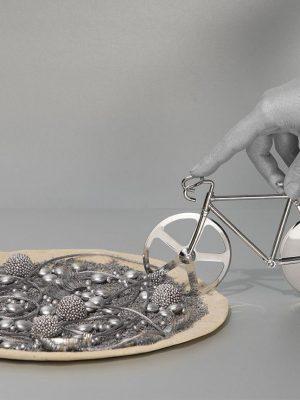 Cortapizzas The Fixie (plata)