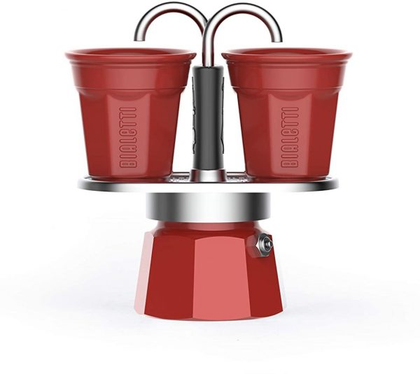 Set miniexpreso de Bialetti (2 tazas – rojo)