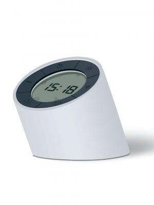 Rellotge-despertador Edge Light (blanc)