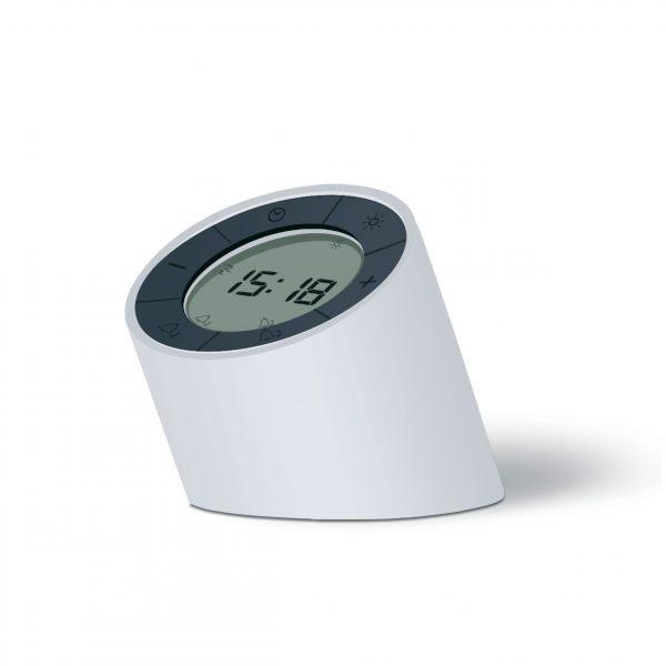 Reloj-despertador Edge Light (blanco)