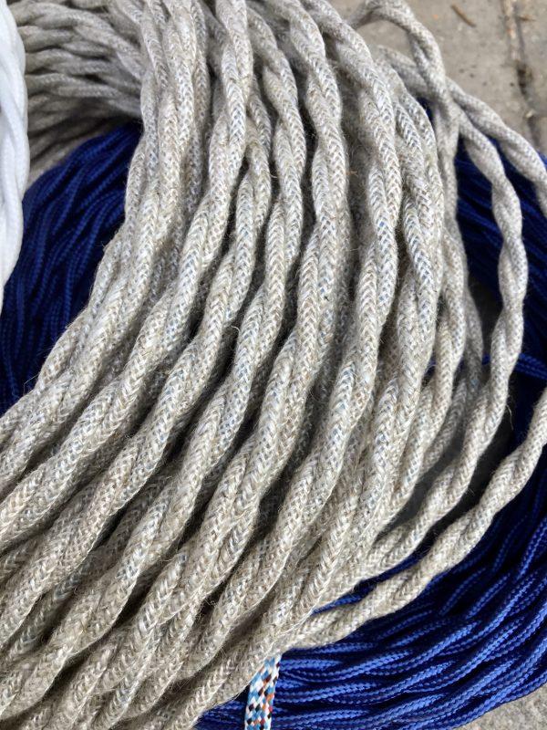 Cable textil trenzado (lino)