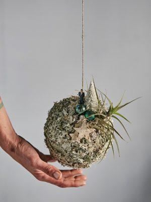 Bola de liquen blanco natural (Ø 18 cm)