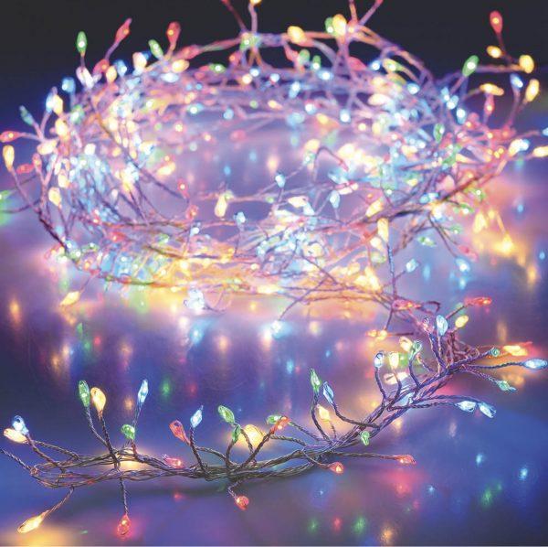 Guirnalda multicolor a pilas (100 LEDS)