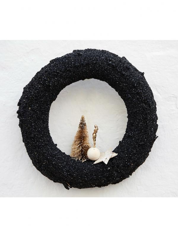 Corona de arena negra (Ø 25 cm)