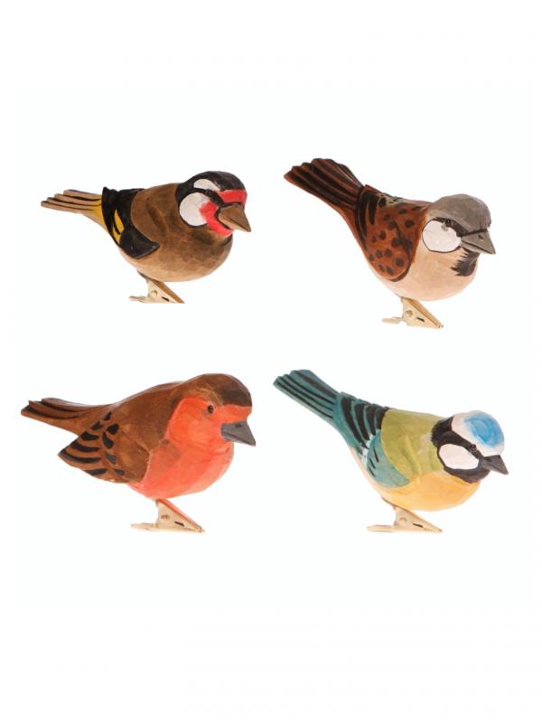 Pájaros con pinza surtidos