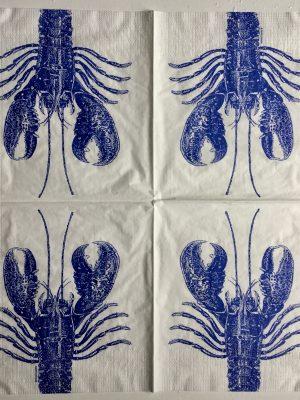 Langosta azul marino (20 servilletas)