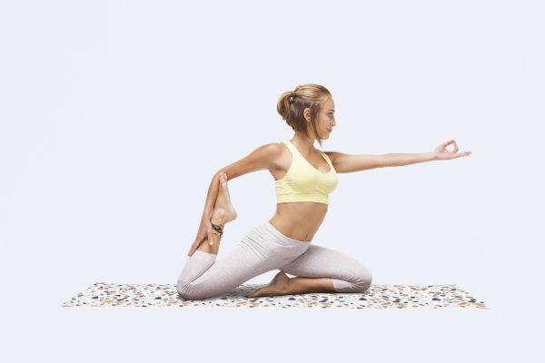 Terrazzo Yoga Mat (blanco)