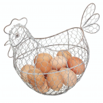 Cesta gallina para huevos