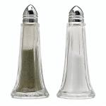 Juego de salero y pimentero de cristal