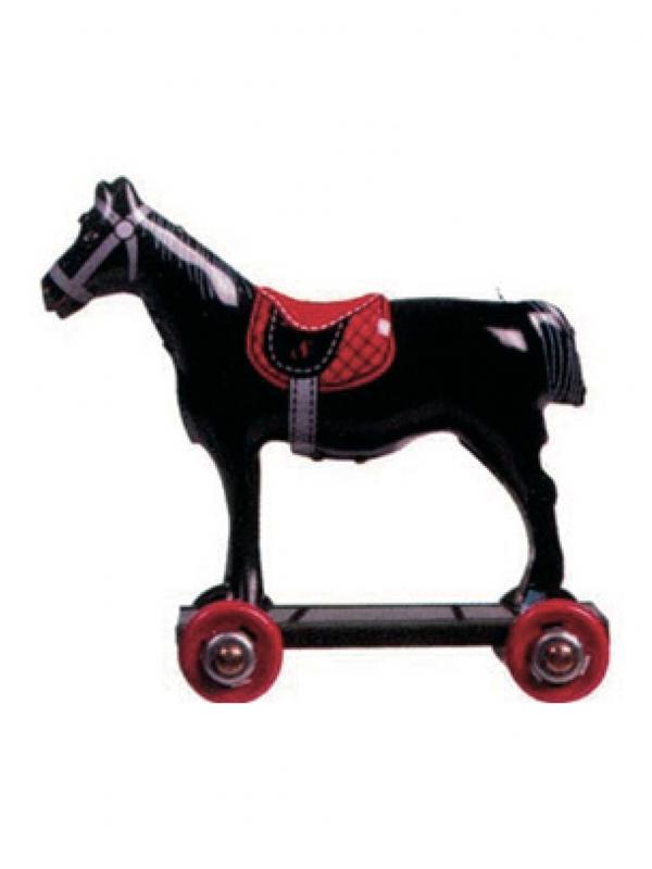 Miniatura caballo negro