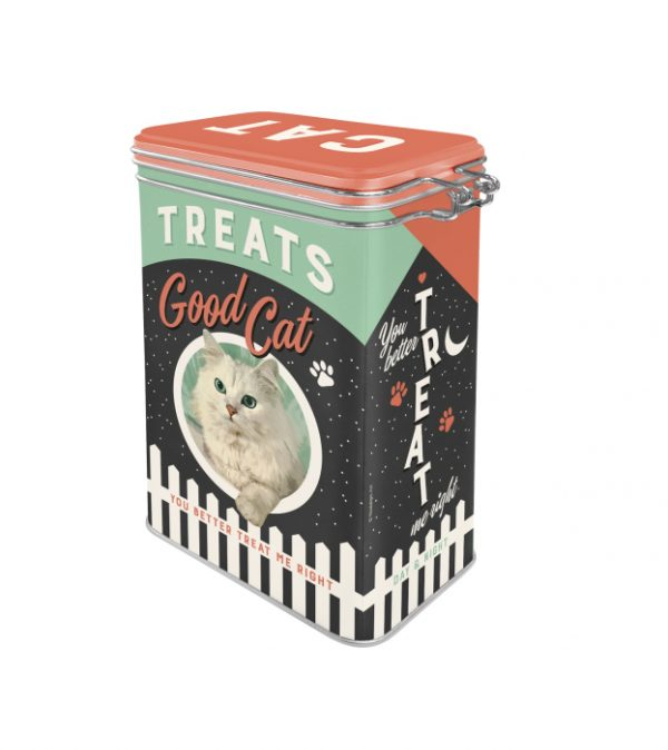 Lata con clip superior Animal Club<br>– Treats/Good Cat<br>