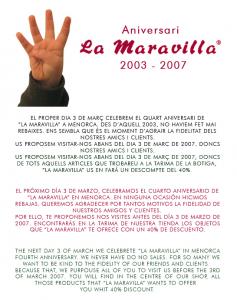 La Maravilla News 2007 - Quart aniversari