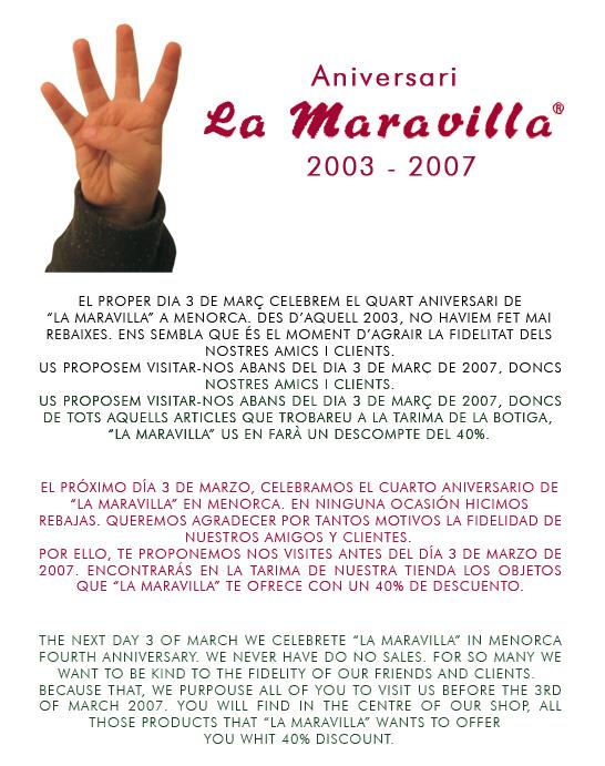La Maravilla News 2007 - Cuarto aniversario