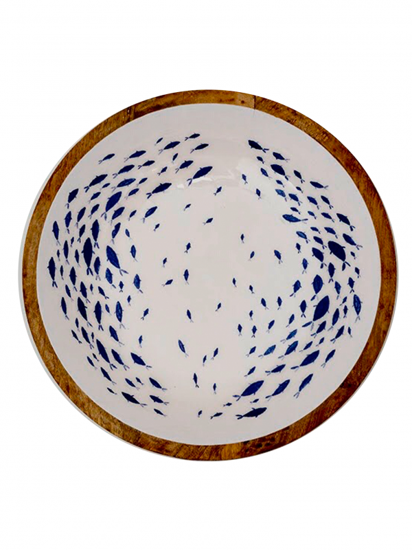 Fuente esmaltada Peces (Ø 38 cm)