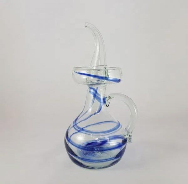 Aceitera de vidrio Aguas (azul/2 tamaños)