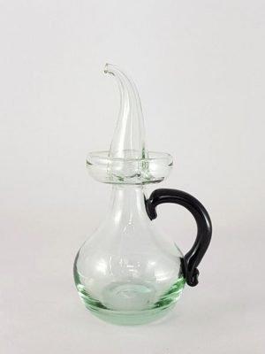 Aceitera de vidrio Clásica (asa en varios colores) - Negro