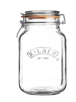 Bote de cocina Kilner (2 L/cuadrado)