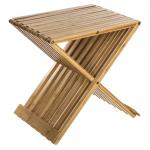 Silla plegable de bambú para baño