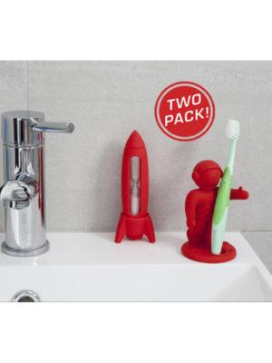 Set de baño Apolo (rojo)