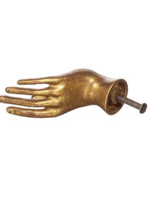 Tirador Mano (dorado)