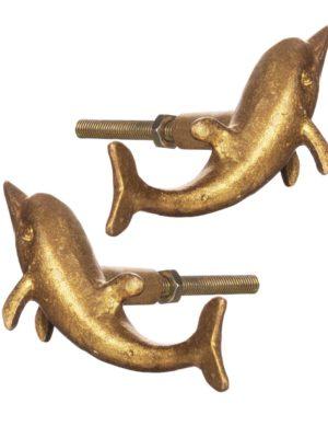 Tiradores Delfín (2 uds./dorado). ¡Próximo en llegar!